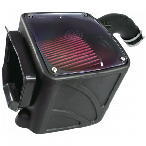 S&B - Cold Air Intake For 04-05 Chevrolet Silverado GMC Sierra V8-6.6L LLY Duramax Cotton Cleanable Red S&B - Image 5