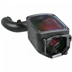 S&B - Cold Air Intake For 01-04 Chevrolet Silverado GMC Sierra V8-6.6L LB7 Duramax Cotton Cleanable Red S&B - Image 7