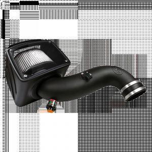 S&B - Cold Air Intake For 07-10 Chevrolet Silverado GMC Sierra V8-6.6L LMM Duramax Dry Extendable White S&B - Image 1
