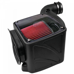 S&B - Cold Air Intake For 06-07 Chevrolet Silverado GMC Sierra V8-6.6L LLY-LBZ Duramax Cotton Cleanable Red S&B - Image 5