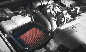 S&B - Cold Air Intake For 06-07 Chevrolet Silverado GMC Sierra V8-6.6L LLY-LBZ Duramax Cotton Cleanable Red S&B - Image 6