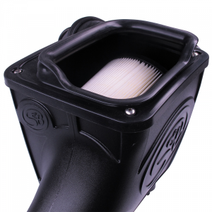 S&B - Cold Air Intake For 03-07 Ford F250 F350 F450 F550 V8-6.0L Powerstroke Dry Extendable White S&B - Image 3
