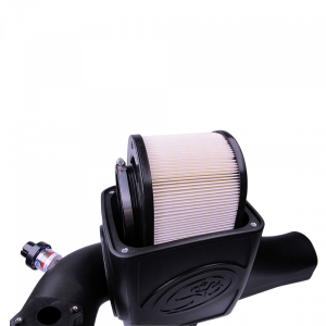 S&B - Cold Air Intake For 03-07 Ford F250 F350 F450 F550 V8-6.0L Powerstroke Dry Extendable White S&B - Image 5