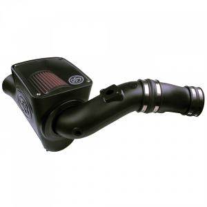 S&B - Cold Air Intake For 03-07 Ford F250 F350 F450 F550 V8-6.0L Powerstroke Cotton Cleanable Red S&B - Image 1