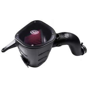 Cold Air Intake For 13-18 Dodge Ram 2500 3500 L6-6.7L Cummins Cotton Cleanable Red S&B