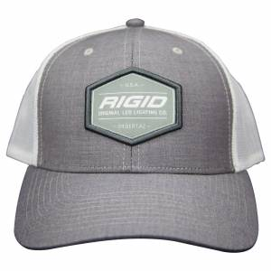 Custom Trucker Hat Grey/White RIGID Industries RIGID Industries