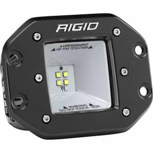 2x2 115 Degree DC Power Scene Light Black Housing Flush Mount RIGID Industries