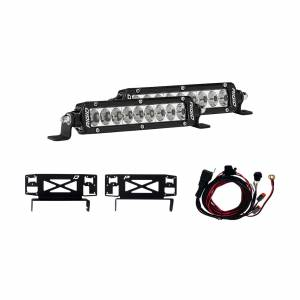 17-18 Ford Superduty Stealth Grille Kit Includes Mounts and Two 6 Inch SR-Series RIGID Industries