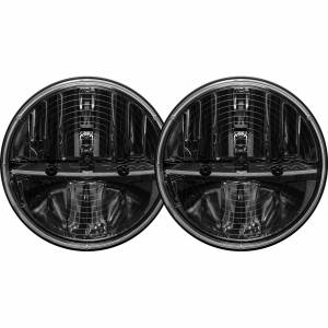 7 Inch Round Heated Headlight With H13 To H4 Adaptor Pair RIGID Industries