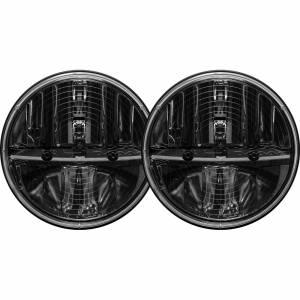 7 Inch Round Heated Headlight With Pwm Adaptor Pair RIGID Industries