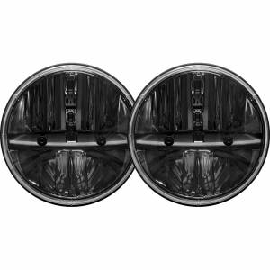 7 Inch Round Headlight With H13 To H4 Adaptor Pair RIGID Industries