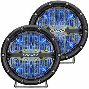360-Series 6 Inch Led Off-Road Drive Beam Blue Backlight Pair RIGID Industries