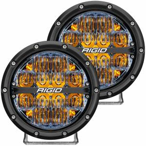 360-Series 6 Inch Led Off-Road Drive Beam Amber Backlight Pair RIGID Industries