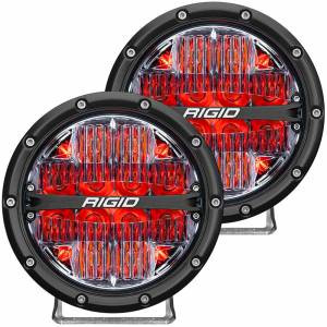 360-Series 6 Inch Led Off-Road Drive Beam Red Backlight Pair RIGID Industries