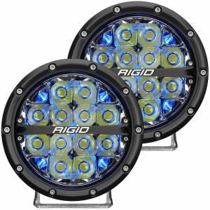 360-Series 6 Inch Led Off-Road Spot Beam Blue Backlight Pair RIGID Industries
