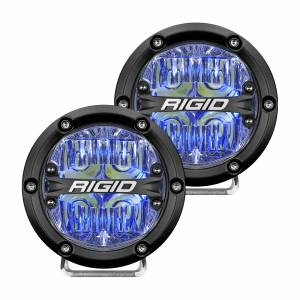 360-Series 4 Inch Led Off-Road Drive Beam Blue Backlight Pair RIGID Industries