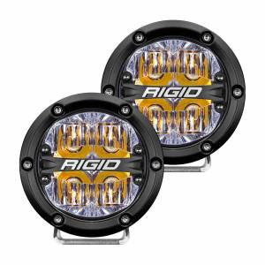 360-Series 4 Inch Led Off-Road Drive Beam Amber Backlight Pair RIGID Industries
