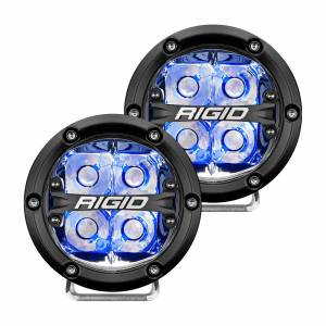 360-Series 4 Inch Led Off-Road Spot Beam Blue Backlight Pair RIGID Industries