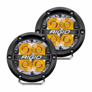 360-Series 4 Inch Led Off-Road Spot Beam Amber Backlight Pair RIGID Industries