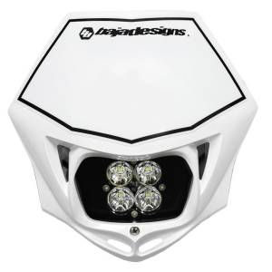 Motorcycle Headlight LED Race Light White Squadron Pro Baja Designs