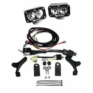 Motorcycle Headlight LED Race Light Black Squadron Pro Baja Designs