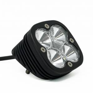 Flush Mount LED Light Pod Angled Black Clear Lens Work/Scene Pattern Squadron Sport Baja Designs
