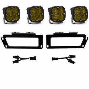 Ram 2500/3500 Fog Lights SAE Fog Pocket Kit Amber FPK 10-18 RAM 1500 09-12 Ram 2500/3500 Baja Designs