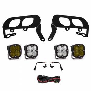 Silverado 1500 Fog Pocket Kit 14-15 FPK, SAE Amber W/C & Sport D/C Baja Designs