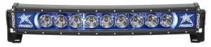 20 Inch LED Light Bar Single Row Curved Blue Backlight Radiance Plus RIGID Industries