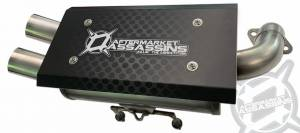 AA Stainless Slip-On Exhaust for Polaris General & RZR 1000 S ** Build to Order **