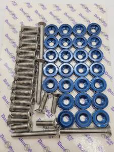 BLUE FENDER WASHER KIT RZR/CAN AM X3