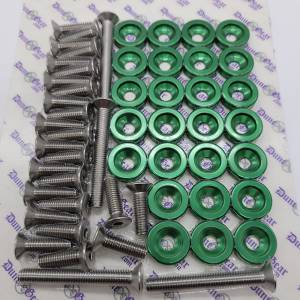 GREEN FENDER WASHER KIT RZR/CAN AM X3