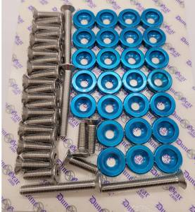 TURQUOIES  FENDER WASHER KIT RZR/CAN AM X3