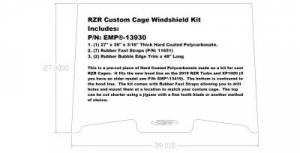 RZR Custom Cage Windshield Kit for 2019 RZR Turbo and RZR XP1000