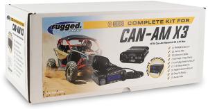 Rugged Radio Can-Am Maverick X3 & X3 Max Complete Kit (DASH MOUNT)