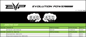 Evolution Power - ARCTIC CAT WILDCAT XX BAD ASS DRIVE BELT - SANDSTORM (SS) - Image 2