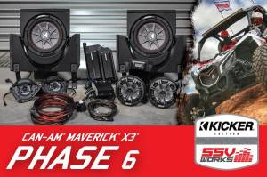 2017-2018 CanAm X3 Complete Kicker 6-Speaker Plug-and-Play System