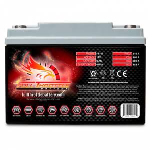 Full Throttle Battery - FT100 High-Performance AGM Battery - Image 1