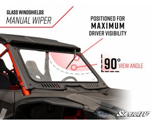 SuperATV  - Honda Talon 1000 Glass Windshield - Image 3