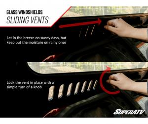 SuperATV  - Honda Talon 1000 Glass Windshield - Image 6