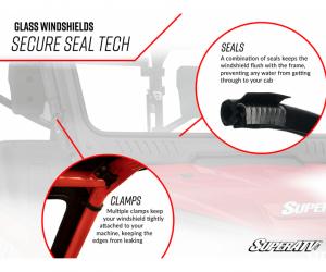 SuperATV  - Honda Talon 1000 Glass Windshield - Image 9