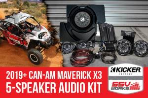 SSV Works  - 2019+ CanAm X3 Complete Kicker 5-Speaker Plug-and-Play System - Image 2