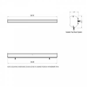 """Rear Light Bar Store - Rear Chase Light 36"""" LED Light Bar – San Felipe Race Series DIY (Amber/White) - Image 5"""